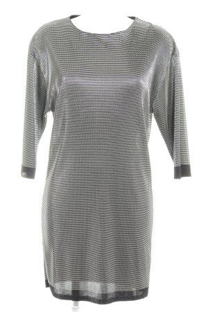 Zara Minikleid schwarz-silberfarben Streifenmuster Party-Look