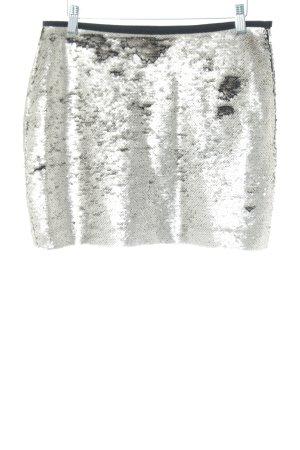 Zara Minirock silberfarben extravaganter Stil
