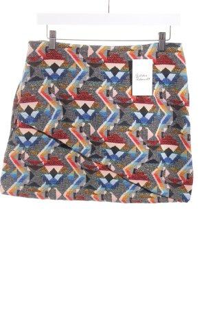 Zara Mini-jupe motif abstrait style extravagant