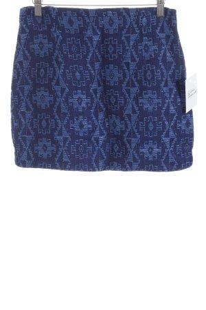 Zara Minirock blau Ethnomuster Casual-Look
