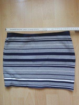 Zara Minirock blau weiß gestreift in Größe S / 36 neuwertig elastischer Bund