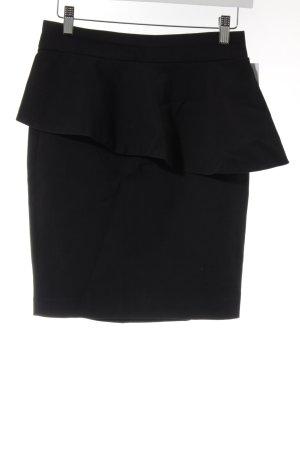 Zara Mini-jupe bleu foncé style d'affaires