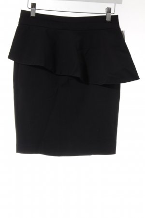 Zara Minirock dunkelblau Business-Look