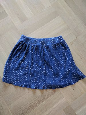 Zara Miniskirt dark blue-white cotton