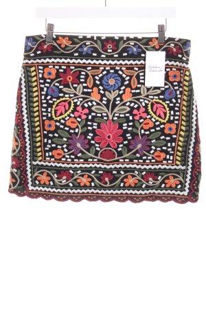 Zara Minirock florales Muster Boho-Look