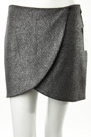 Zara Minirock grau-silberfarben Metall-Optik