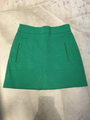 ZARA Minirock, grün, Nylon, Größe 34, 70ties Style