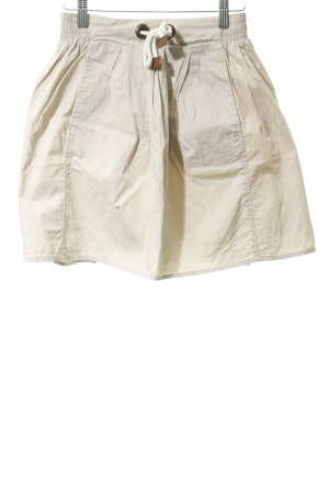 Zara Minifalda beige claro look casual