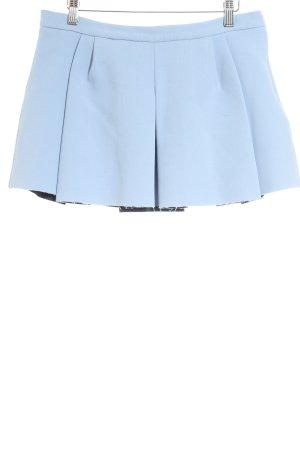 Zara Minirock himmelblau Casual-Look