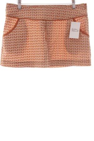 Zara Minirock rostrot-dunkelorange Blumenmuster Retro-Look