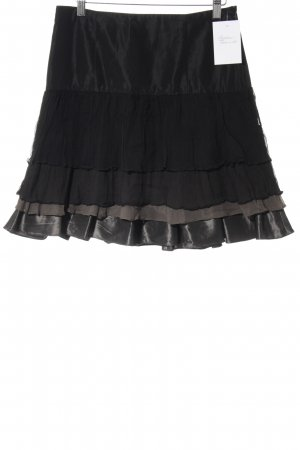 Zara Miniskirt black-grey brown romantic style