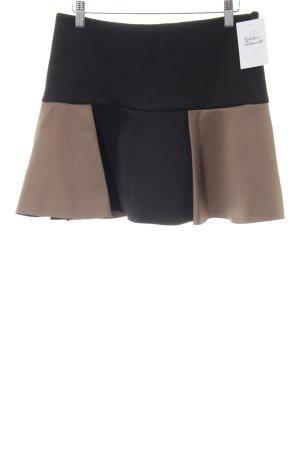 Zara Minirock schwarz-sandbraun Elegant