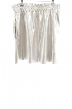 Zara Minirock silberfarben Glanz-Optik