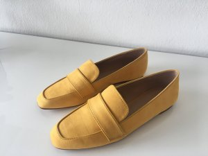 Zara Mocassins orange doré faux cuir