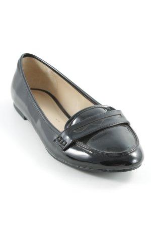 Zara Mocassins noir style cuir