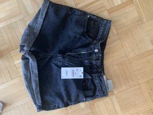 Zara Pantaloncino di jeans grigio