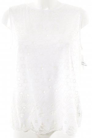 Zara Muscle Shirt natural white-white floral pattern casual look