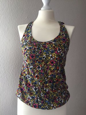 Zara Trafaluc Top estilo halter multicolor