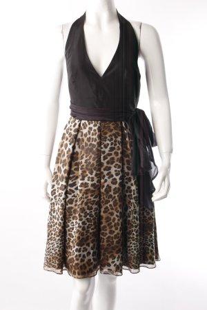 Zara Neckholder-Seidenkleid Animalprint