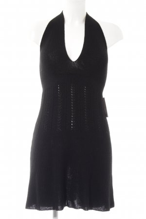 Zara Halter Dress black casual look