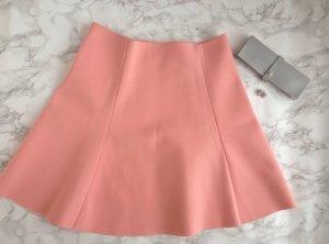 ZARA Neopren Rock A - Line L 40 Pink Nude Lachs Highwaist Blogger Skirt