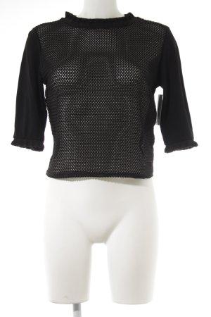 Zara Netzshirt schwarz schlichter Stil