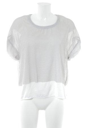 Zara Camisa de malla blanco-gris claro estilo «business»