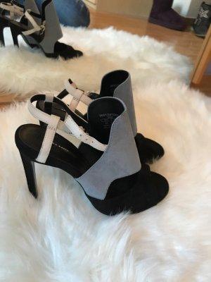 Zara Basic Sandalias negro-gris oscuro