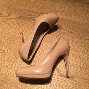 Zara nude Lackleder Pumps Gr. 40 top