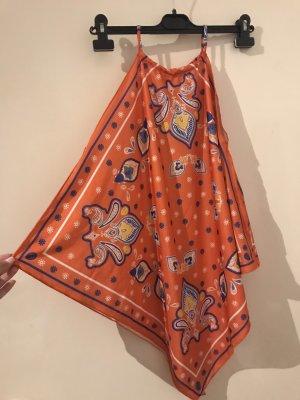 Zara Top senza maniche arancio neon
