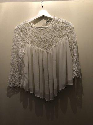 Zara Ruche blouse wit