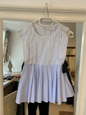 Zara Trafaluc Blusa bianco-azzurro