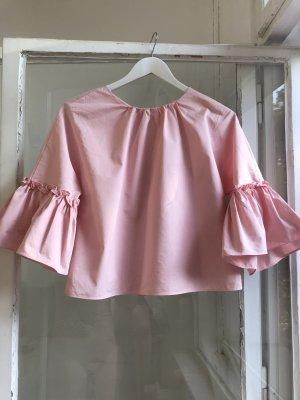 Zara Oberteil Bluse Hemd rosa S