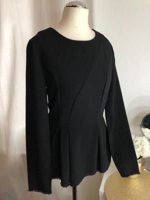 Zara Oberteil Bluse Schwarz Elegant