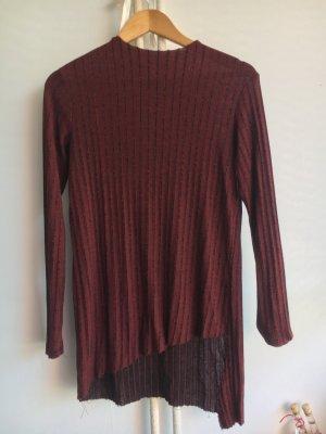 Zara Oberteil, Bordeaux, schwarz, asymmetrisch, Hingucker, Größe S