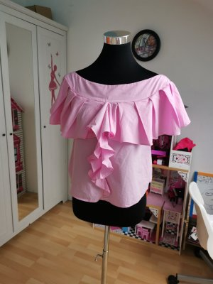 Zara Basic Blusa rosa chiaro