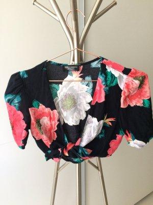 Zara Oberteil floral  Größe Xs