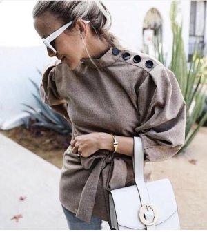 Zara Cols de blouses beige