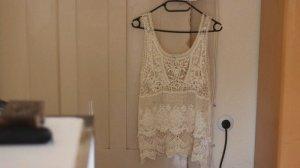 Zara Crochet Top white-pale yellow