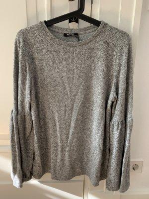 Zara Oberteil Pullover Grau