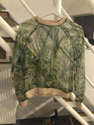Zara Top multicolore polyester