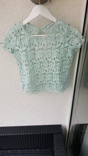 Zara Haut dos-nu turquoise