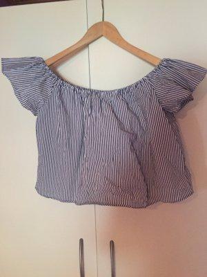 Zara Off Shoulder Bluse Streifen
