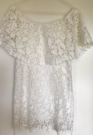 ZARA Off-Shoulder Lace Dress - XS