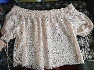 Zara Carmen shirt abrikoos