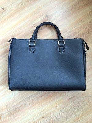 Zara Office City Bag Umhängetasche für Arbeit Uni Schwarz Kunstleder
