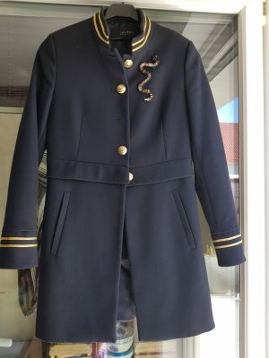 Zara Basic Robe manteau bleu foncé