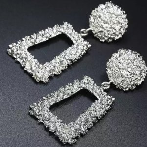 Zara Statement Earrings silver-colored