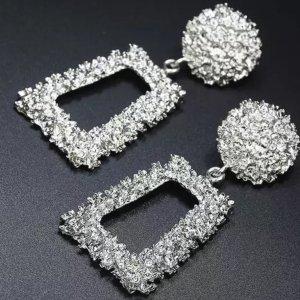 Zara Statement Earrings silver-colored