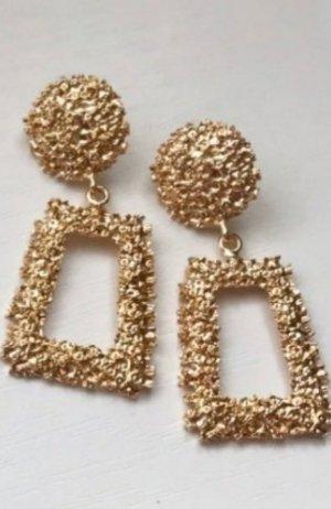 Zara Boucles d'oreille en or brun sable